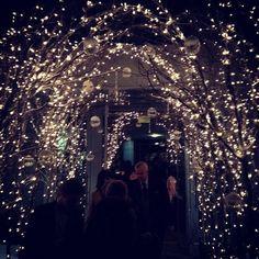 Fairy Lights Wedding Arch - 20 Cool Wedding Arch Ideas, http://hative.com/cool-wedding-arch-ideas/,
