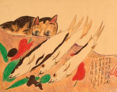 The Wing Luke Asian Museum Jimmy Mirikitani Organic by John patrick resort 2014 Mixed Media Collage, Collage Art, Collages, Asian Cat, Japan Art, Cat Art, Art Museum, Contemporary Art, Dog Cat
