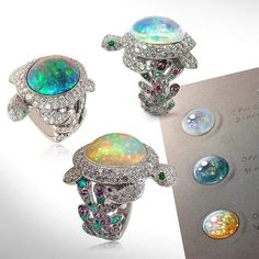 Opal Turtle Rings from Frederic Mane, Paris