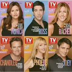Friends Characters on the cover of TV Guide