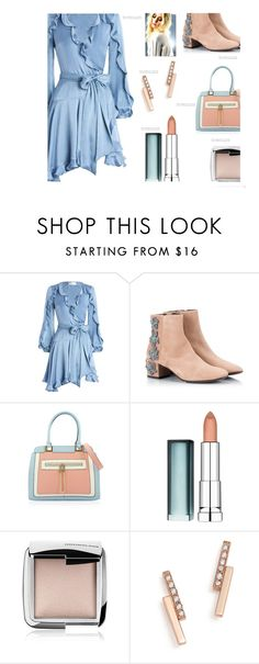 """Robe Dress'"" by dianefantasy ❤ liked on Polyvore featuring Zimmermann, Attilio Giusti Leombruni, Maybelline, Hourglass Cosmetics, ZoÃ« Chicco, Blue, Nudes, polyvorecommunity and polyvoreeditorial"
