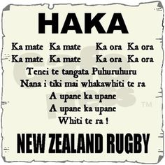Haka....I learned this once at a week long YWAM session