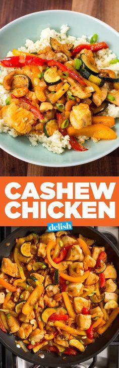 Cashew Chicken with Cauliflower Rice