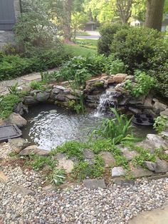 The Best Stone Waterfalls Backyard Ideas – Pool Landscape Ideas Backyard Water Feature, Ponds Backyard, Garden Ponds, Outdoor Ponds, Backyard Waterfalls, Outdoor Fountains, Koi Ponds, Small Water Features, Water Features In The Garden