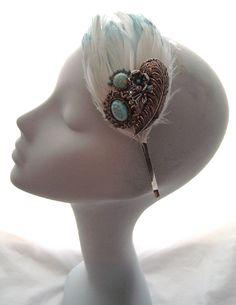 Bridesmaid Headband, Wedding Headband, Bridal Tiara, Vintage Headbands, Feather Headband, Vintage Bridal, Gemstone Rings, Feminine, Fancy