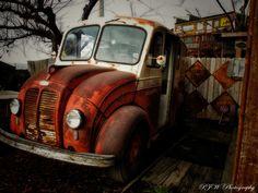 great old milk truck