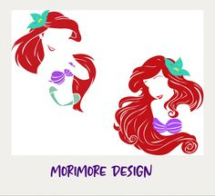Disney Princess Silhouette, Silhouette Design, Ceramic Tile Crafts, Disney Decals, Disney Silhouettes, Cricut Craft Room, Ariel The Little Mermaid, Circuit, Vinyls