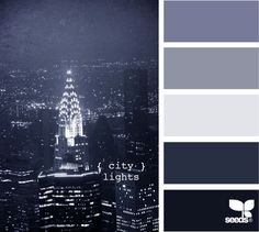 city lights  I have no clue what I want for my wedding colors but this site is amazing-I'll definitely figure it out.