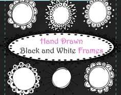 7 Hand Drawn Doodle Circle Frame Clip Art PNG Images