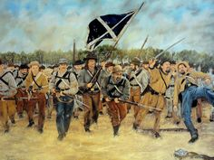 El 1er regimiento de rifles de Arkansas avanzando en el campo de Brotherton,Georgia, 20 de septiembre de 1863. Artista Rodney Ramsay. http://www.elgrancapitan.org/foro/viewtopic.php?f=21&t=11680&p=922195#p922166