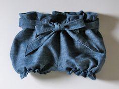 Homestitched: Denim Part 2: Paper Bag Shorts/Pants