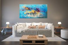 Large Abstract Artwork,Large Abstract Painting,original abstract,extra-large wall art,palette knife art,textured art FY0063