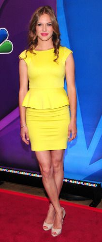 Tracy Spiridakos at 2013 NBC Upfront Presentation