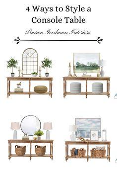 Foyer Table Decor, Entryway Decor, Entrance Hall Decor, Entryway Console Table, Console Table Styling, Foyer Decorating, Summer Decorating, Decorating Ideas, Interior Design Guide