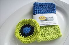 Washcloth Gift Set-Gifts for Her-Washcloth and Face Scrubbies Set-Cotton--BOLD, Bird inspired BATH SETS-Eco Friendly-Lasts a Long Time #bestofEtsy #etsymnt