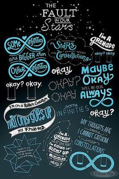 The Fault in Our Stars Poster Typographic / Zitate - mobil bestellen - Neuheiten