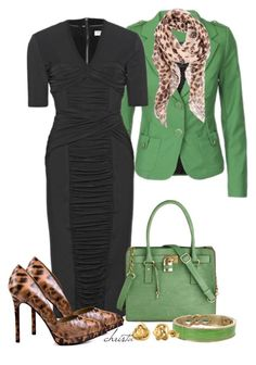 """""""Animal and Green"""" by christa72 ❤ liked on Polyvore featuring Burberry, Melie Bianco, Paris Hilton, Alexander McQueen, Nali and IBB"""
