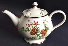 Lenox Williamsburg Boxwood Pine Tea Pot 4182681 | eBay