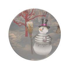 Gothic Snowman Coaster http://www.zazzle.com/gothic_snowman_coaster-174395335641859819?rf=238271513374472230  #christmas   #homedecor   #christmasideas