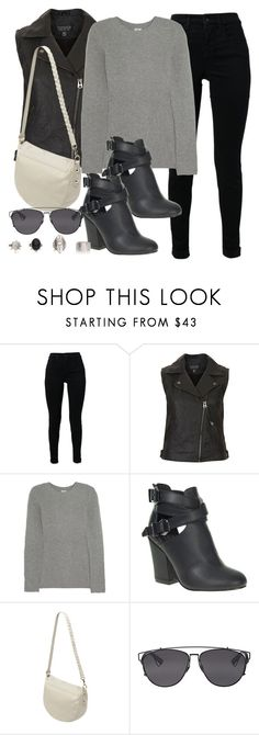 """Style #9781"" by vany-alvarado ❤ liked on Polyvore featuring J Brand, Topshop, Iris & Ink, Spot On, Mulberry, Christian Dior, women's clothing, women, female and woman"