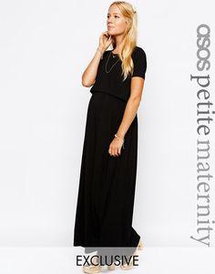 ASOS+Maternity+PETITE+NURSING+Maxi+Dress