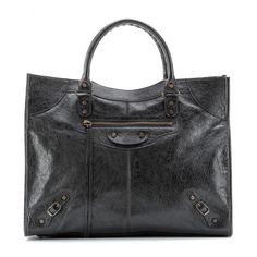 Balenciaga - Giant Monday leather tote  - mytheresa.com