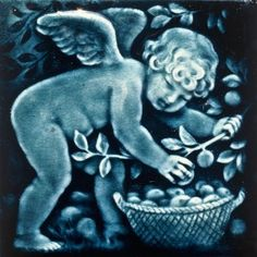 Trent Tile Company, Trenton, NJ 1982-1939. An early prolific pottery that made outstanding, dust-pressed, highly glazed tiles for most of its productive, fifty-eight years in business. This is a perfect 'puti' ( angel baby) for February!