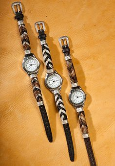 Animal Print Watches Made with Authentic Horse Hair   eBay
