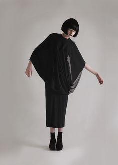 Sculptural Fashion // black dress, The Importance of Ma, Olivia Hearnshaw, fashion, LTVs, Lancia TrendVisions