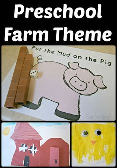 15 Ideas for a Preschool Farm Theme -- includes ideas for literacy, math, pretend play, art, and sensory play. Great for homeschooling, preschool, and kindergarten classes!