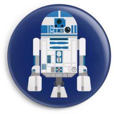 Chapas del robot de starwars r2d2. Disponible en Camaloon