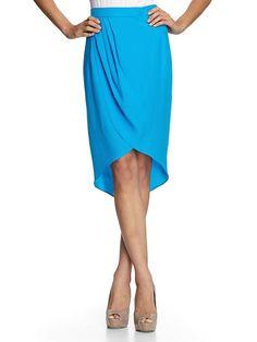 Amanda Uprichard - Petal Silk Mid Length Midi Skirt