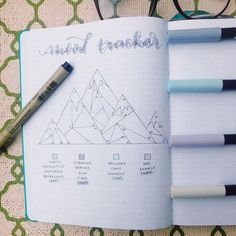 Easy Bullet Journal Ideas To Well Organize & Accelerate Your Ambitious Goals Bullet Journal Tracker, Bullet Journal Organisation, Bullet Journal Disney, Bullet Journal Mood Tracker, Bullet Journal 2019, Bullet Journal Spread, Bullet Journal Layout, Bullet Journal Ideas Pages, Bullet Journal Inspiration