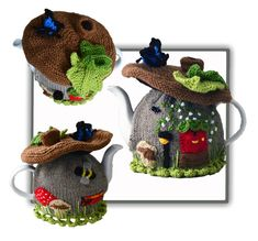 Fairy Brown Mushroom House Tea Cosy by Nowmine on Etsy