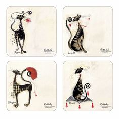 Cat Placemats |Marilyn Robertson Catitudes by Pimpernel