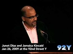 Junot Díaz and Jamaica Kincaid at the 92nd Street Y. See upcoming events at 92Y Poetry: http://www.92y.org/Uptown/Literary-Readings/Main-Reading-Series?utm_source=pinterest_92Y_medium=pinterest_92Y_MainReadingSeries_May412_campaign=Poetry_Center