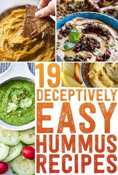 19 Easy And Delicious Hummus Recipes - these look absolutely delicious!