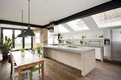 6 bedroom house for sale in Harvist Road, London - Rightmove. Kitchen Diner Extension, Open Plan Kitchen, Kitchen Living, New Kitchen, Kitchen Island, Kitchen Ideas, 6 Bedroom House, Side Return, House Extensions