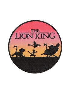 "<i>NANTS INGONYAMA BAGITHI BABA!!!!</i><div><i><br></i></div><div>Your jacket needs this patch from <i>The Lion King</i> featuring Simba, Timon, Pumba, and Zazu walking into the sunset. <br><div><ul><li style=""list-style-position: inside !important; list-style-type: disc !important"">3"" diameter<br></li><li style=""list-style..."