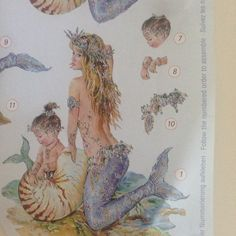 Mermaid scrap booking! A Christine Haworth design.