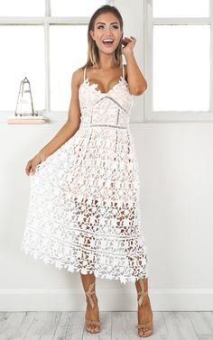 Want this!!!! Day Delight Crochet Dress by Showpo- wedding summer cocktail or races dress!