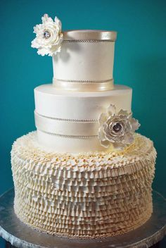 Gorgeous Buttercream Ruffle Wedding Cake
