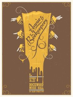 Annie & the Beekeepers gig poster design
