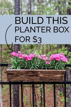 Learn how to make these beautiful DIY planter boxes out of cedar. Hang these planter boxes on railings or fences to add colorful Spring flowers to your outdoor living spaces. Plus what smells better than cedar? Herb Planter Box, Hanging Planter Boxes, Herb Planters, Raised Planter, Planter Ideas, Railing Planters, Cedar Planters, Patio Planters, Wooden Planters