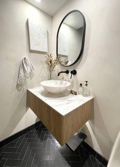 Black Hills Glazed Thin Brick Bathroom Floor | Fireclay Tile