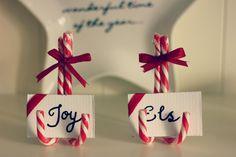 Christmas DIY candy canes X-mas decoration