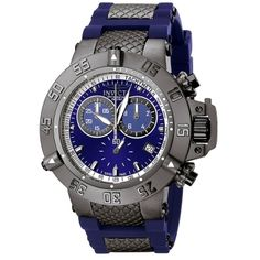 Invicta Men's Subaqua Chronograph Blue Rubber $269 With FREE next day shipping!