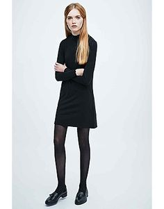 Cooperative Short Dresses, Price: GBP 45.00, Cooperative Turtleneck Time Dress in Black