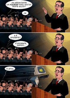 Cartoon: Seguro alvo de ataque informático