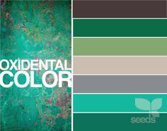 Oxidental color by design seeds Colour Pallette, Color Palate, Colour Schemes, Color Combos, Design Seeds, Color Profile, Color Swatches, Color Of Life, Color Theory
